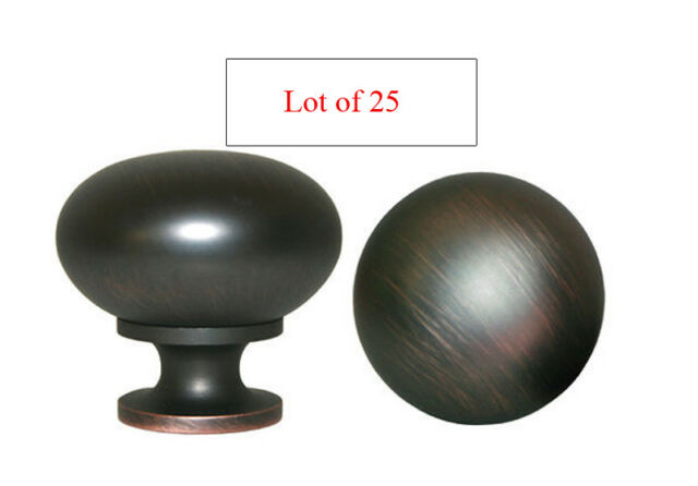25 Oil Rubbed Bronze Round Kitchen Cabinet drawer Knob free shipping