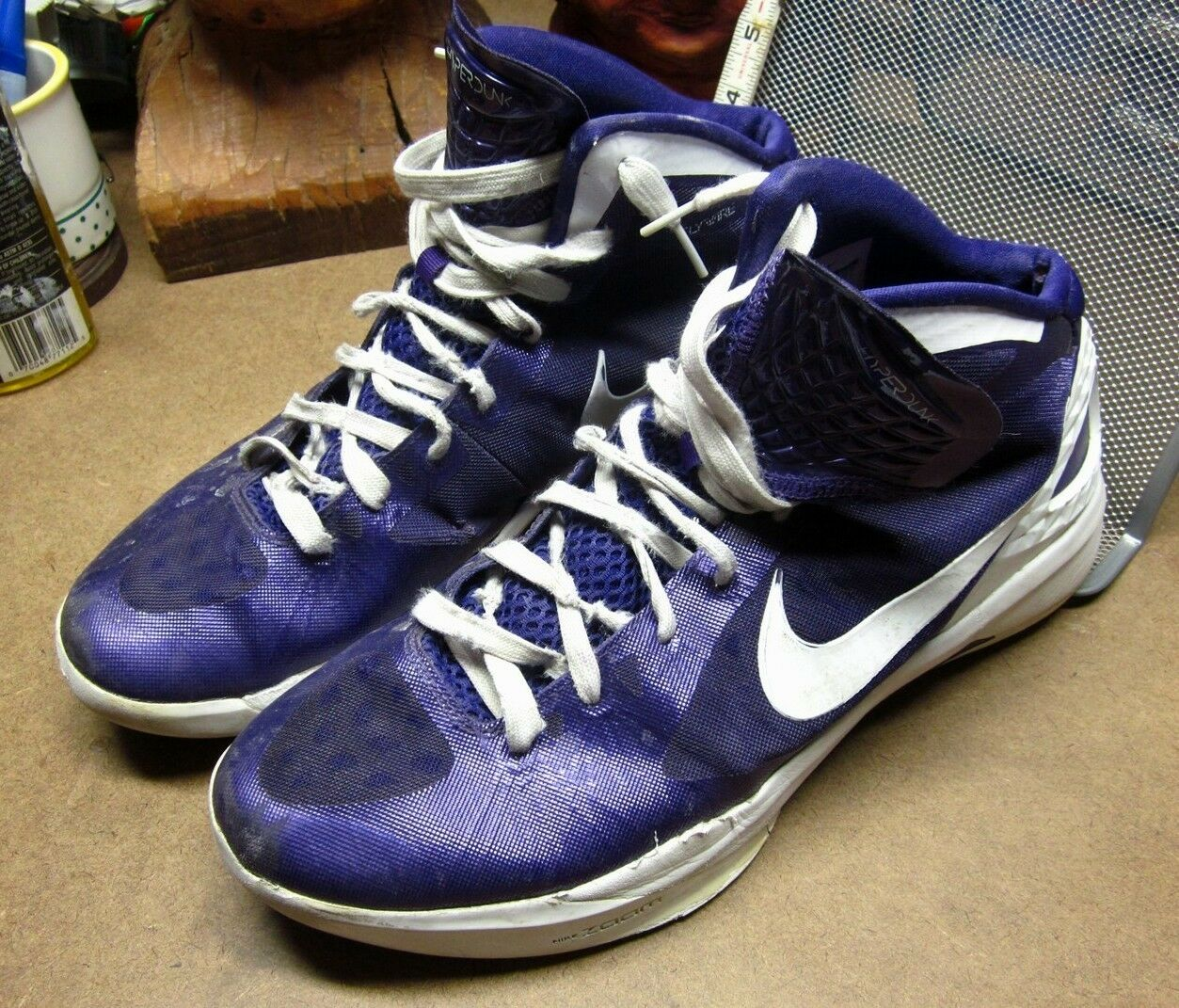 NIKE HYPERDUNK chaussures Violet Zoom tennis  chaussures HYPERDUNK  2018 Taille 12½ basketball Blake Griffin c6c93b