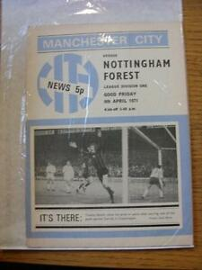 09041971 Manchester City v Nottingham Forest  No Apparent Faults - <span itemprop=availableAtOrFrom>Birmingham, United Kingdom</span> - Returns accepted within 30 days after the item is delivered, if goods not as described. Buyer assumes responibilty for return proof of postage and costs. Most purchases from business s - Birmingham, United Kingdom