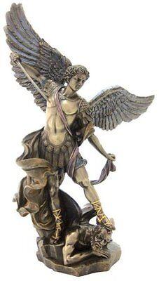 "14.5""  Archangel Michael Statue Figurine Figure Religious San Saint Angel St"