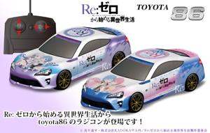 Re Zero kara Hajimeru Isekai Seikatsu TOYOTA 86 Type-1 Radio Control RC Car Toy