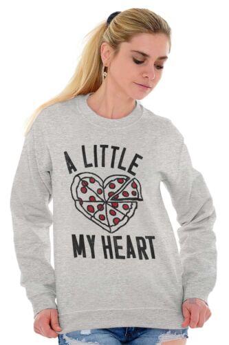 Little Pizza My Heart Cute ShirtFunny Cool Valentine Day Crewneck Sweatshirt