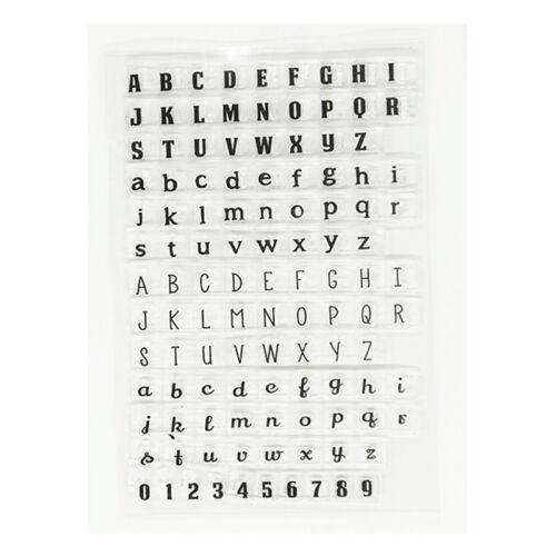 Alphabet Klar Silikon Stempel Seal Stamp Scrapbooking DIY Briefmarken Fotoalbum