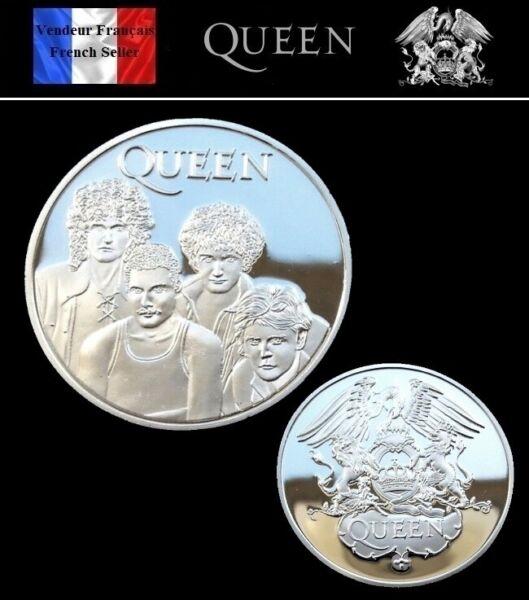 1 Pièce Plaquée Argent ( Silver Plated Coin ) - Queen Freddie Mercury Rock