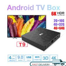 T9 ультра Android 9.0 Quad Core 4 ГБ RAM хранения 64 ГБ 6K 2.4G/5G WiFi Smart TV коробка