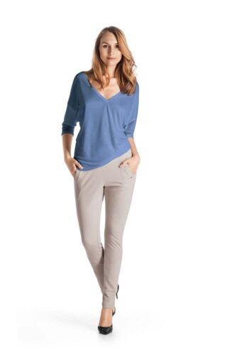 Seide Lyocell Farbe blue shadow L Hanro KNIT Blusen Shirt Serie Silk Gr XS