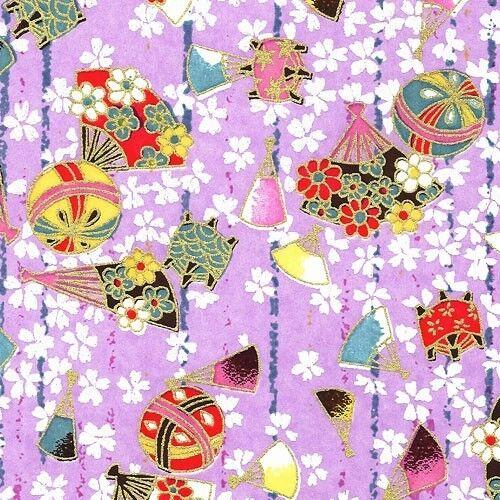 CHIYOGAMI Japanese Yuzen washi paper 22x31 cm. c78