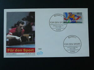 table tennis FDC 1989 Germany 81376