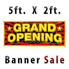 GRAND OPENING Full Color Banner Outdoor 13oz Vinyl 5 ft x 2 ft Grommets Corner
