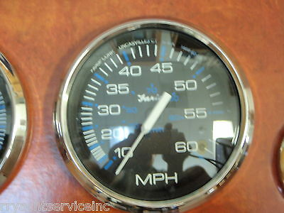 "60mph Faria Beede Instruments 33811 Faria Chesapeake White Ss 4/"" Speedometer"