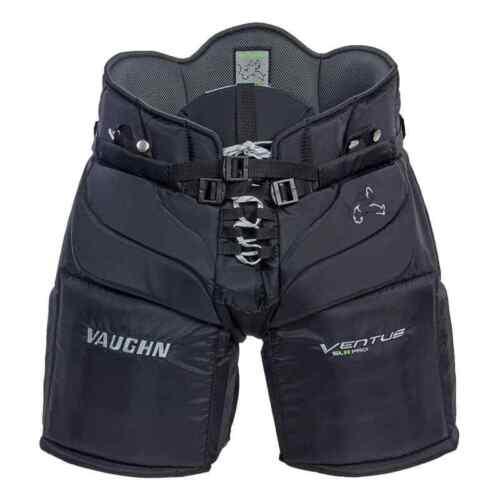 "New Vaughn Ventus SLR Pro goalie pants senior medium 34/"" black Sr ice hockey"