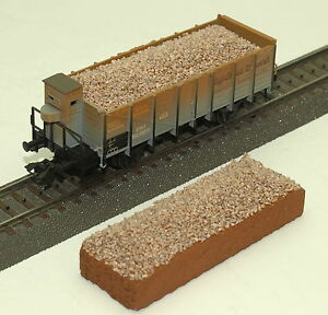 "054 H0 Ladegut für Märklin Bauart Om Güterwagen 46032, "" Schotter braun "", OVP"