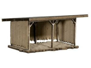 NOCH-14379-Ho-L-C-Shelter-Laser-Cut-Minis-Kit-New-Original-Packaging