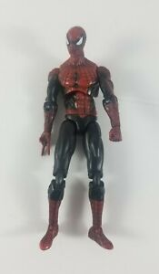 2011-Spider-Man-4-034-Ultra-Poseable-Spider-Man-Action-Figure-Black-with-Red-Suit