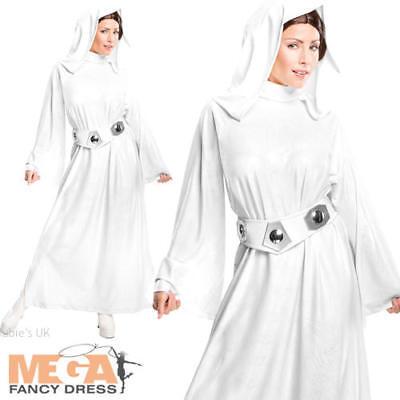 Adulti Donna Star Wars SPACE Principessa Leia Costume Chignon Parrucca Cosplay NUOVO