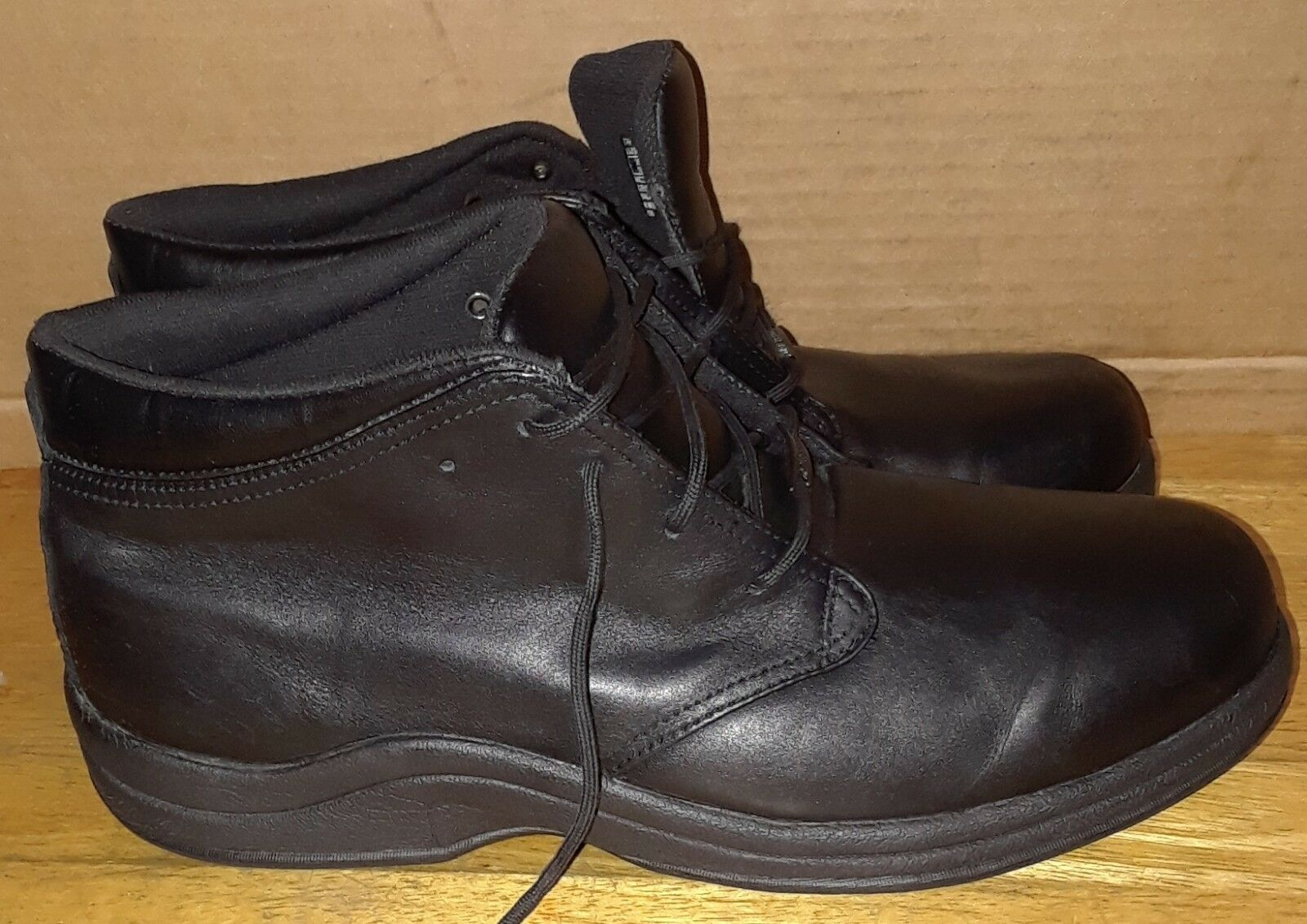 PW Minor Tribeca Black Leather Waterproof Ankle Diabetic Boot Boot Boot 10.5W 1c6cb6