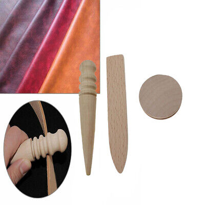 Multi-Size Burnisher Leather Craft Edge Round Slicker Wood Leathercraft Tools