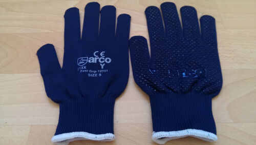 1-120 pairs Top Quality S//M//L//XL -- White or Blue Arco Dotted Gloves
