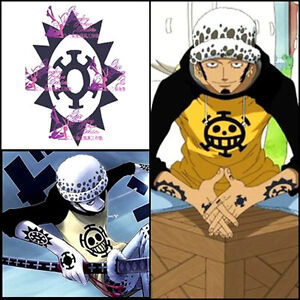 Japanese Anime Cosplay One Piece Temporary Bady Tattoo Sticker