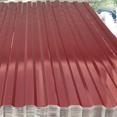Baustoffe & Holz Trapezbleche & Wellplatten FäHig Trapezblech Blech Profilblech 300x114cm Wellblech Dachblech Stahlblech Ral3005 Preisnachlass