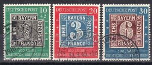 Germany-1949-rare-set-of-stamps-Michel-113-115-nice-used