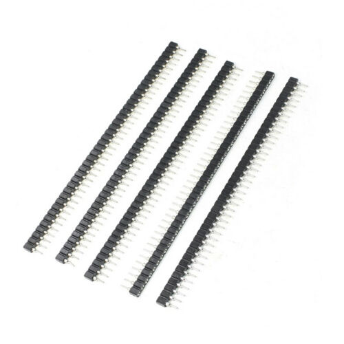 3PCS Strip Tin PCB Female IC Breakable 40pin Single Row Round Header Socket ALUK