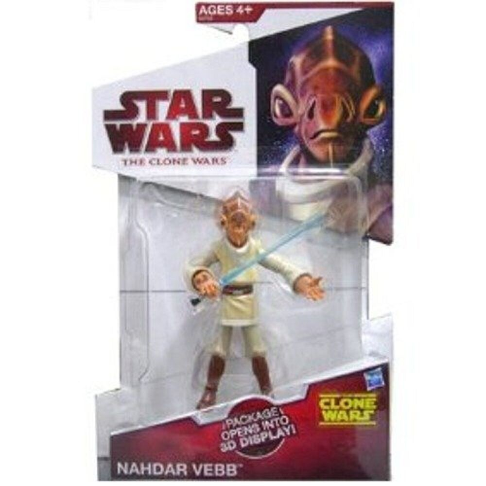 Star Wars Clone Clone Clone Wars 2009 Nahdar Vebb Jedi Exclusive sealed in mailer Figure bed36b