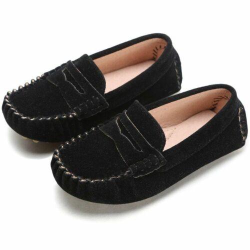 Details about  /Kids Shoes Leather Fur Shoes Fashion Children Peas Shoes Casual Walking Unisex