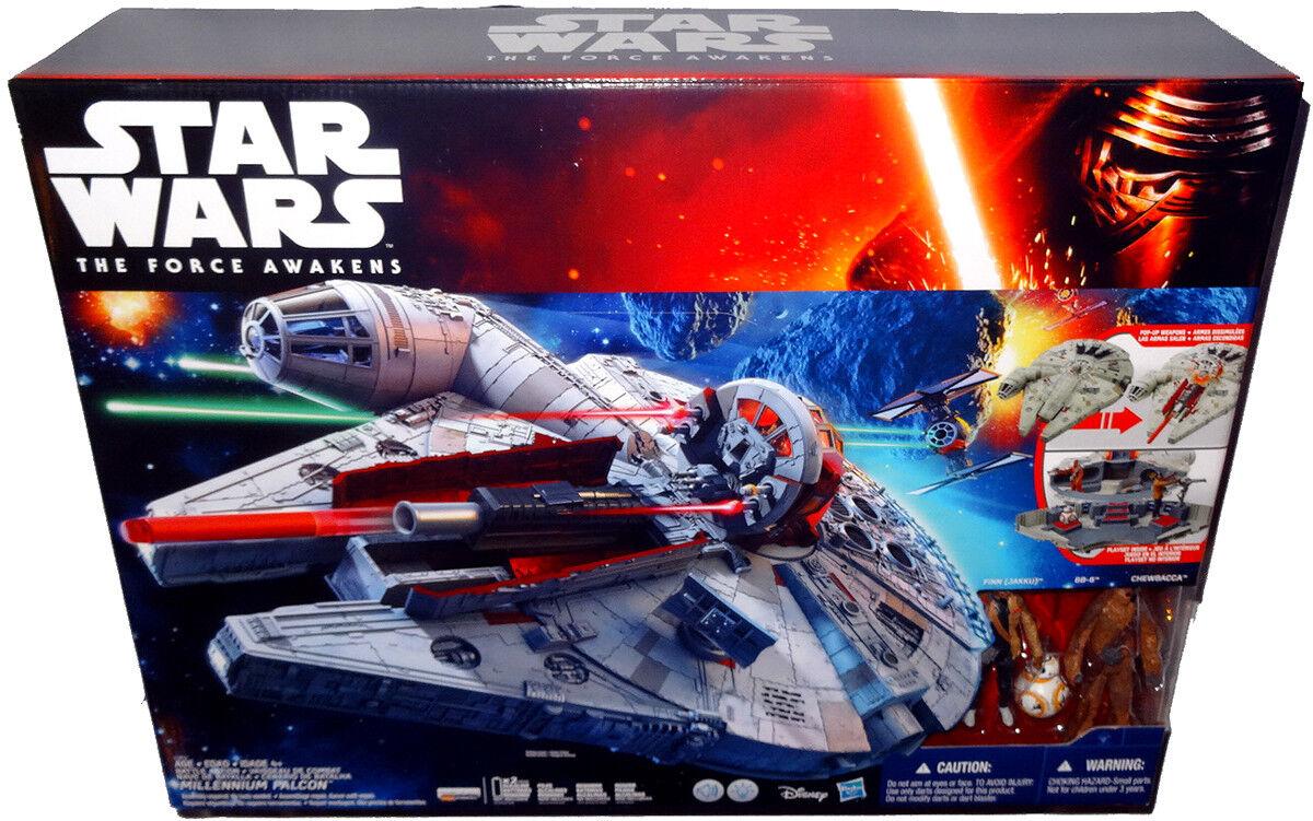 Star Wars The Force Réveille Battle Action Faucon Millenium Grand kit de jeu B3678