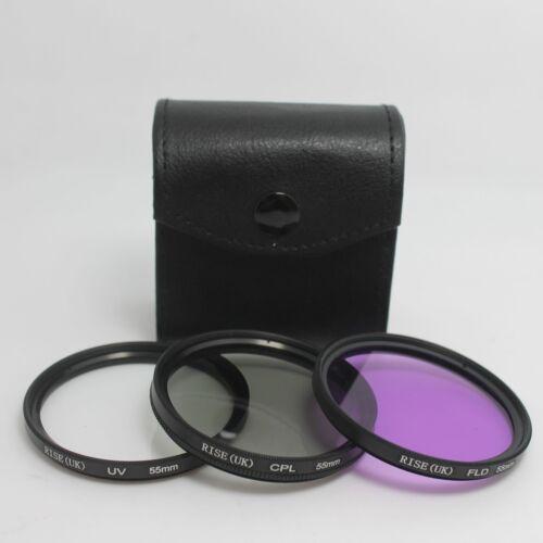 55MM UV FLD Lente Filtro Polarizador Circular Kit Para Nikon Pentax Canon Sony Todo Digital DSLR SLR