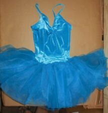 NWT VELVET BALLET DANCE COSTUME ATTACHED GRADUATED TUTU RED CHILD//ADULT DRESS