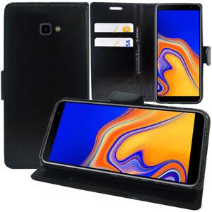 Etui-Coque-Housse-Portefeuille-Rabat-Cuir-PU-Samsung-Galaxy-J4-J4-Plus-2018