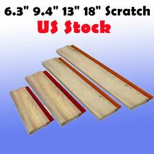 Us 4pcs Silk Screen Printing Squeegee Ink Scraper 63 94 13 18 Scratch