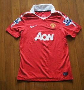 Manchester United 2010 2011 Home Shirt Kit Jersey Owen 7 Large Boys MUFC Man Utd