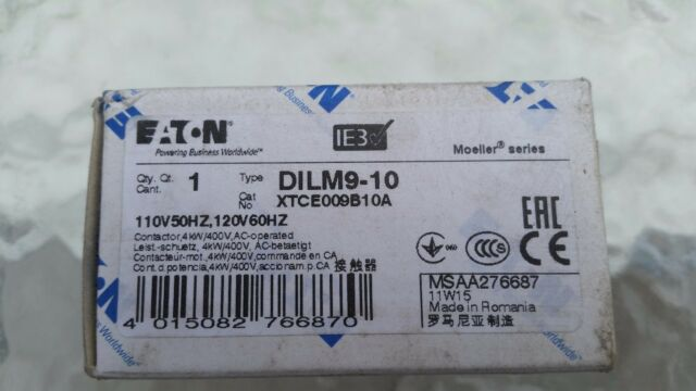 DILM9-10-110VAC Contactor3-pole Auxiliary contacts NO 110VAC 9A NO x3