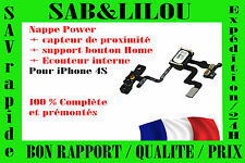 ★★ NAPPE POWER ÉCOUTEUR CAPTEUR DE PROXIMITÉ SUPPORT BOUTON IPHONE 4S ★★