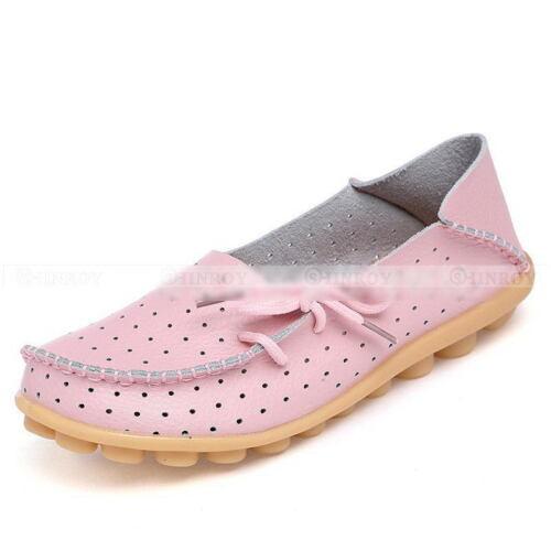 New Women/'s Leather Hollow Chaussures Décontractées ballet slip on Flats Mocassins Unique Chaussure