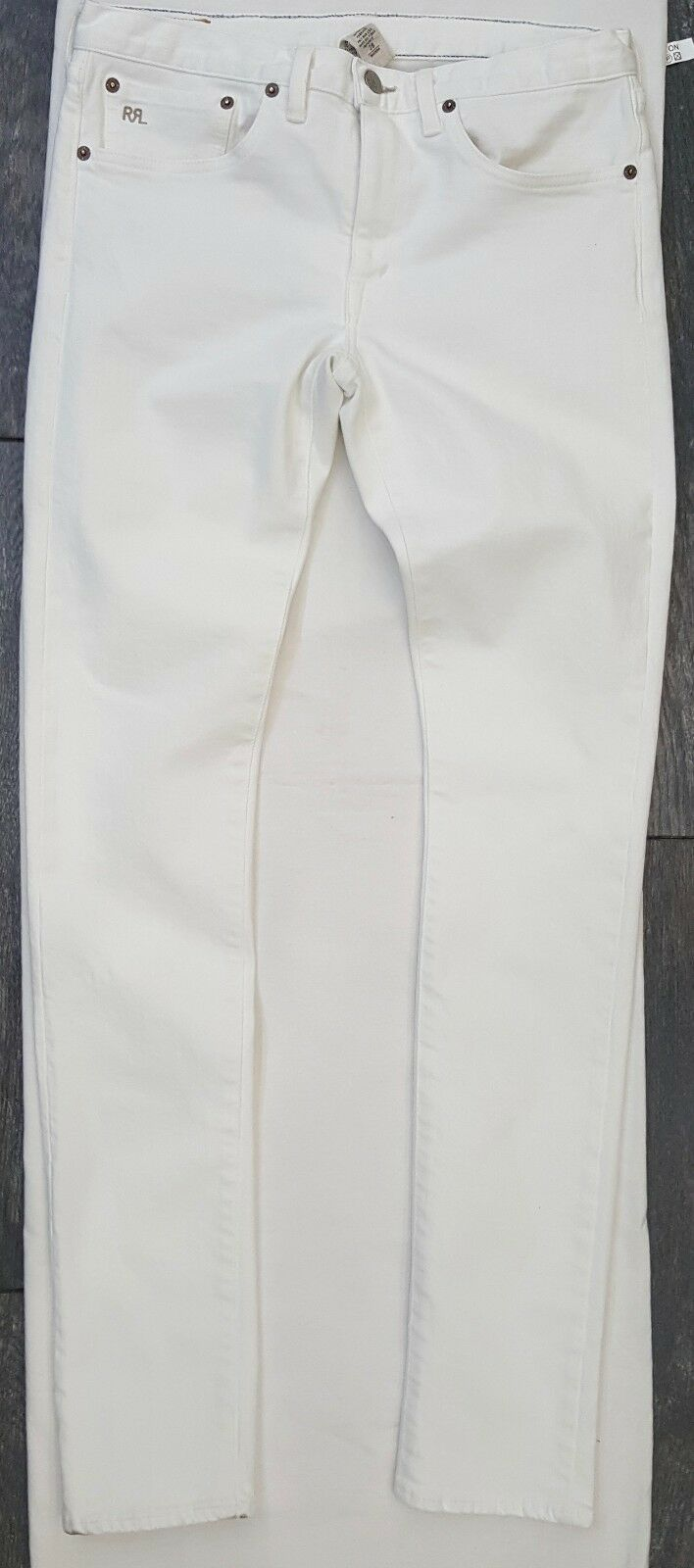 340 RRL Ralph Lauren WHITE SKINNY FIT STRETCH JEANS MADE IN USA SIZE 28