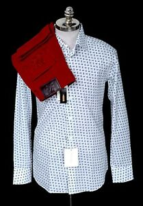 2pc-Outfit-Lot-BRIONI-White-Blue-VHS-Shirt-L-ZILLI-Red-Slim-Fit-Denim-Jeans-36