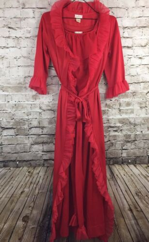 Vintage Very Sexy Red Peignoir LeVoy's Negligee In