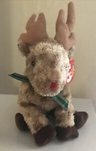 Ty Beanie Baby - RUDY the Reindeer (6.5 Inch) With Tags