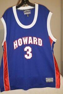 online store 3e1a7 f155e Details about Howard Bison NCAA Steve & Barry's Blue Howard #3 2XL  Basketball Jersey