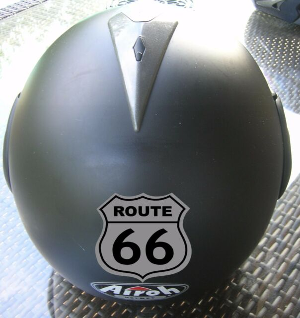 Sticker Route 66 Reflective Motorcycle Helmet Scooter Visible Night Security