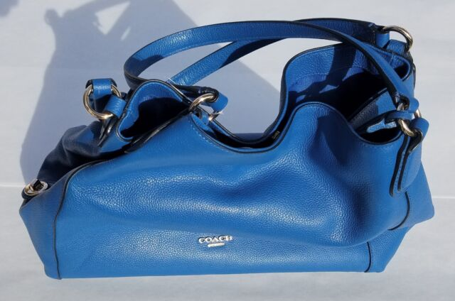 Coach 33547 Denim Refined Pebble Leather Edie Shoulder Bag for sale ... b57f5d80fa537