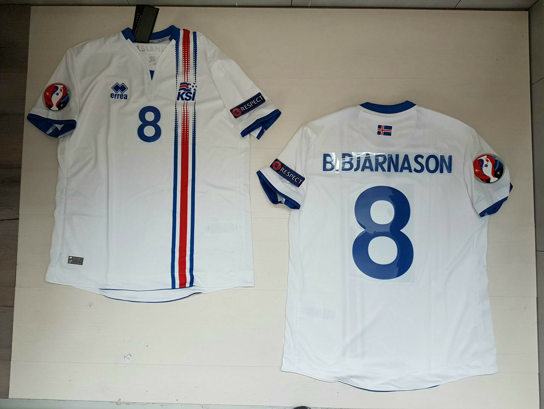 B.Bjarnason Ijsland (Ijsland) 65533; sland T-Shirt Jersey Shirt Euro 2016 Patch W