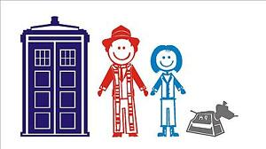 Dr. Who family stickers with Tardis