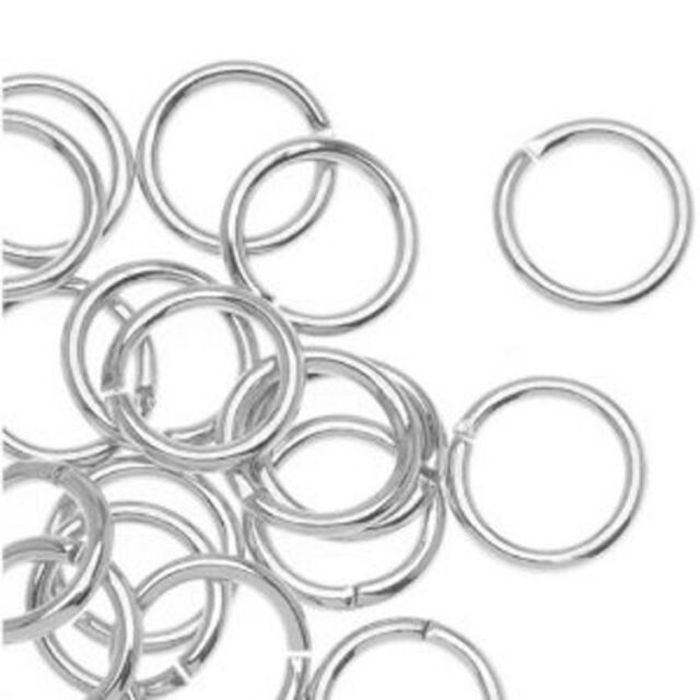 """Sterling Silver Open Jump Rings - 7 mm - 20 GA (.032"""") - 7mm open Jump Ring"""