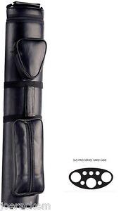 NEW-PRO35NL-CASE-3x5-Pool-Cue-Case-BLACK-LEATHERETTE-GREAT-VALUE