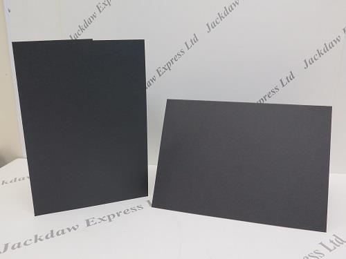20 x Black Matt Blank Greeting Cards Single fold A5 300gsm 148x210mm AM22