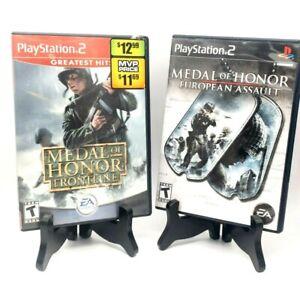 Medal Of Honor Frontline + European Assault PS2 PlayStation 2 2-Game Bundle Lot